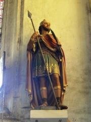 Eglise Saint-Hilaire - Longeville-en-Barrois (Meuse) église, statue Saint Jules