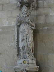 Ancienne abbaye - Église abbatiale Saint-Michel de Saint-Mihiel (Meuse, France). Statue
