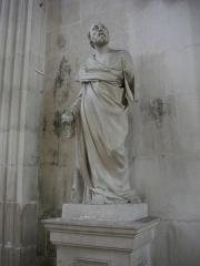 Ancienne abbaye - Français:   Église abbatiale Saint-Michel de Saint-Mihiel (Meuse, France). Statue
