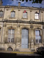 Ancienne abbaye - Français:   Abbaye de Saint-Mihiel (Meuse, France). Entrée de la mairie