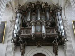 Ancienne abbaye - Église abbatiale Saint-Michel de Saint-Mihiel (Meuse, France). Orgue