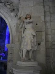 Eglise Saint-Etienne - Église Saint-Étienne de Saint-Mihiel (Meuse, France). Statue de Jeanne d'Arc
