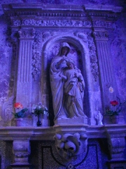 Eglise Saint-Etienne - Français:   Église Saint-Étienne de Saint-Mihiel (Meuse, France). Statue de l\'Éducation de la Vierge