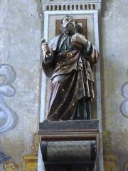 Eglise Saint-Laurent - English: Vaucouleurs (Meuse) Église Saint-Laurent, statue d'un saint