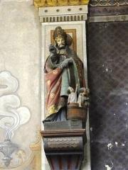 Eglise Saint-Laurent - English: Vaucouleurs (Meuse) Église Saint-Laurent, statue Saint Nicolas