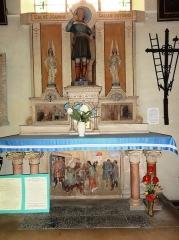 Eglise Saint-Laurent - English: Vaucouleurs (Meuse) Église Saint-Laurent, autel Jeanne d'Arc