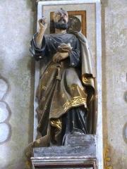 Eglise Saint-Laurent - English: Vaucouleurs (Meuse) Église Saint-Laurent, statue Saint Pierre