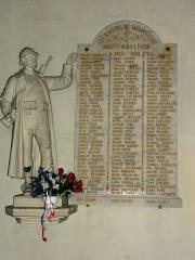 Eglise Saint-Laurent - English: Vaucouleurs (Meuse) Église Saint-Laurent, plaque monument aux morts