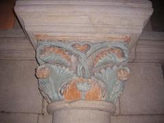 Cathédrale Notre-Dame - Français:   Crypte de la Cathédrale Notre-Dame  de Verdun (Meuse, France). Chapiteau dans l\'entrée nord