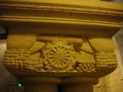 Cathédrale Notre-Dame - Crypte de la Cathédrale Notre-Dame  de Verdun (Meuse, France). Chapiteau