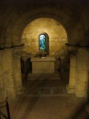 Cathédrale Notre-Dame - Français:   Crypte de la Cathédrale Notre-Dame  de Verdun (Meuse, France). Entrée nord