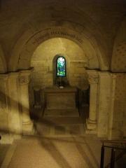 Cathédrale Notre-Dame - Français:   Crypte de la Cathédrale Notre-Dame  de Verdun (Meuse, France). Entrée sud