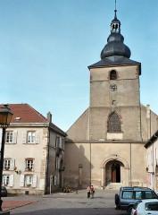 Ancienne abbaye Sainte-Croix - English: Bouzonville, the church Sainte Croix