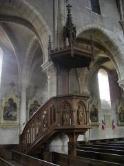 Abbaye - Église collégiale Saint-Étienne de Gorze (Moselle, France). Chaire