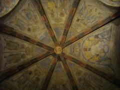 Chapelle des Templiers - Chapelle des Templiers de Metz (Moselle, France); peintures sommitales
