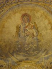 Chapelle des Templiers - Chapelle des Templiers de Metz (Moselle, France); peintures du chœur: Vierge à l'Enfant