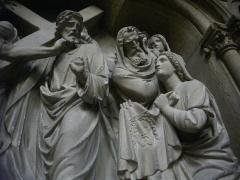 Eglise Saint-Martin - 6ème station du chemin de croix en l'église Saint-Martin de Metz (Moselle)