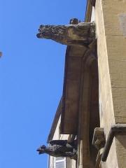 Eglise Saint-Martin - Église Saint-Martin de Metz (Moselle, France). Gargouilles surmontant le portail