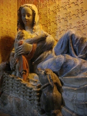 Eglise Saint-Martin - Église Saint-Martin  de Metz (Moselle, France). Vierge allaitant