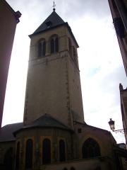 Eglise Saint-Maximin - Clocher de l'église Saint-Maximin à Metz (Moselle)