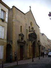 Eglise Saint-Maximin - Façade de l'église Saint-Maximin à Metz (Moselle)