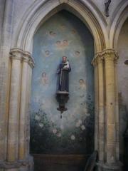 Eglise Saint-Vincent - Église Saint-Vincent de Metz (Moselle, France); statue de saint Antoine de Padoue