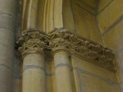 Eglise Saint-Vincent - Église Saint-Vincent de Metz (Moselle, France); chapiteaux fleuris