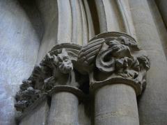Eglise Saint-Vincent - Français:   Église Saint-Vincent de Metz (Moselle, France); chapiteaux