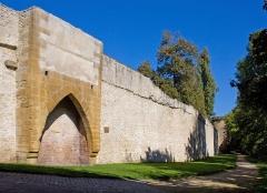 Vestiges de l'enceinte du Moyen-Age - Nederlands: Remparts de Metz avec la Tour des Esprits à droite.