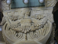 Gare - Gare de Metz-Ville (Moselle, France); salon d'honneur: chapiteau représentant une femme