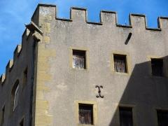 Ancien grenier connu sous le nom de Grange de Chèvremont - Français:   Détail de la façade sud-ouest du Grenier de Chèvremont de Metz.