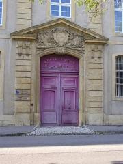 Hôpital militaire  situé dans le Fort Moselle - Français:   Ancien hôpital militaire de Fort Moselle à Metz (Moselle, France); portail