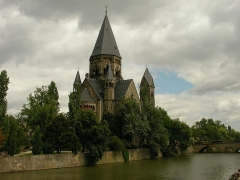 Temple protestant - Français:   Temple-Neuf à Metz (Moselle, France).