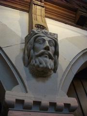 Temple protestant - Temple Neuf de Metz (Moselle, France); tête sculptée