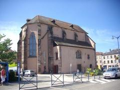 Chapelle des Franciscains  ou des Cordeliers - Français:   La chapelle des Cordeliers de Sarrebourg (Moselle, France), vue depuis la place des Cordeliers.