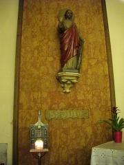 Eglise Saint-Simon et Saint-Jude - Français:   Église Saint-Simon-Saint-Jude de Metz (Moselle, France); statue de saint Jude