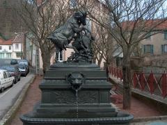 Onze fontaines - Français:   Fontaine Chèvre de Raon-l\'Étape, dans les Vosges, en France