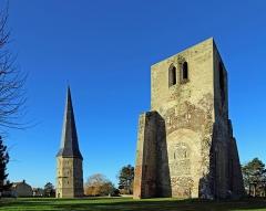 Ancienne abbaye Saint-Winoc - Nederlands:   Sint-Winoksbergen (département du Nord, Frankrijk): torens van de voormalige abdij
