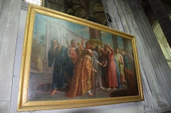 Eglise Saint-Géry -  Église Saint-Géry, scène de la Vie du Christ: Le denier de César.