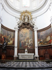 Ancienne collégiale Saint-Pierre - Le transept droit de la collégiale Saint Pierre de Douai (Nord).