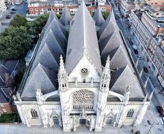 Eglise Saint-Eloi -  Toits de l'église Saint-Éloi de Dunkerque (59).