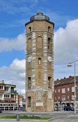Tour du Leughenaer - Nederlands: Duinkerke (département du Nord, Frankrijk): toren 'De Leughenaer'. Voormalige vestingtoren uit de 15de-16de eeuw; in gebruik als vuurtoren van 1825 tot 1963.