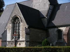 Eglise - This building is indexed in the Base Mérimée, a database of architectural heritage maintained by the French Ministry of Culture, under the reference PA00107511 .