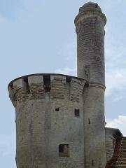 Château - Tourelle accolée à la grosse tour du Château d'Esnes