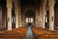 Eglise Saint-Folquin - Nederlands: Esquelbecq (departement Nord, Frankrijk): interieur van de Sint-Folquinuskerk