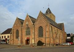 Eglise Saint-Folquin - Nederlands:   Esquelbecq (departement Nord, Frankrijk): de Sint-Folquinuskerk