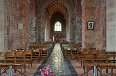Eglise Saint-Folquin - Nederlands:   Esquelbecq (département du Nord, Frankrijk): Sint-Folquinuskerk - binnenzijde