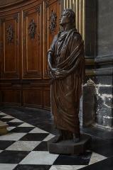 Eglise Saint-Etienne - Statue de saint Jean dans l'église Saint-Étienne à  Lille (Nord, France),