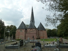 Eglise Saint-Omer - Français:   Le chevet de l\'église St Omer  d\'Ochtezeele