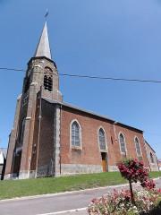 Eglise Saint-Rémi - English: Sémeries (Nord, Fr) église vue latérale